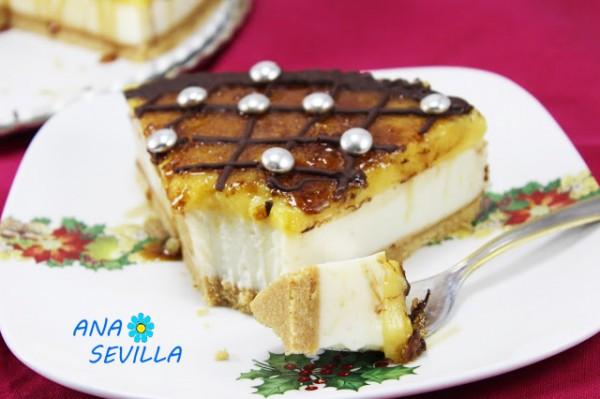 Tarta de ricotta y yema tostada (Sin horno) con Thermomix.Ana Sevilla