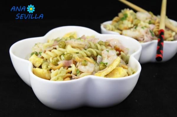 Ensalada de pasta tres delicias Ana Sevilla con Thermomix