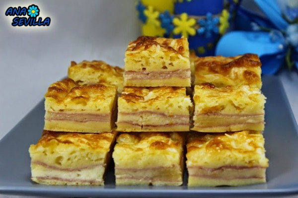 Coca de jamón y queso Ana Sevilla cocina tradicional