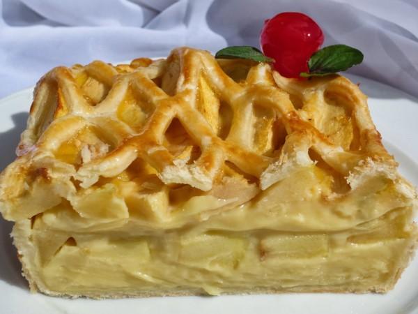Tarta de crema y manzana Ana Sevilla cocina tradicional