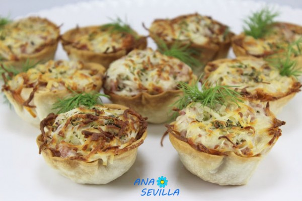 Cestitas sabor pizza Ana Sevilla cocina tradicional