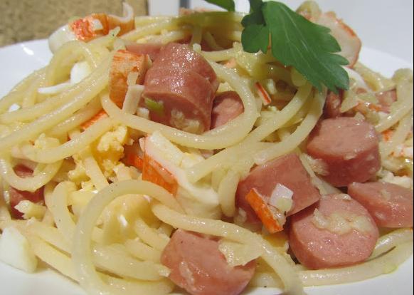 Espaguettis al ajillo Ana Sevilla