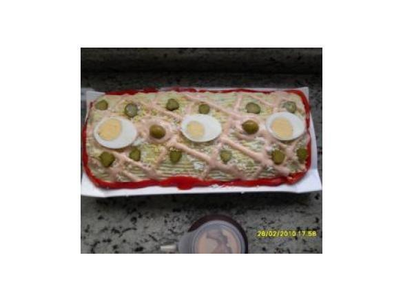 Rollo de ensaladilla de pure de patatas  thermomix