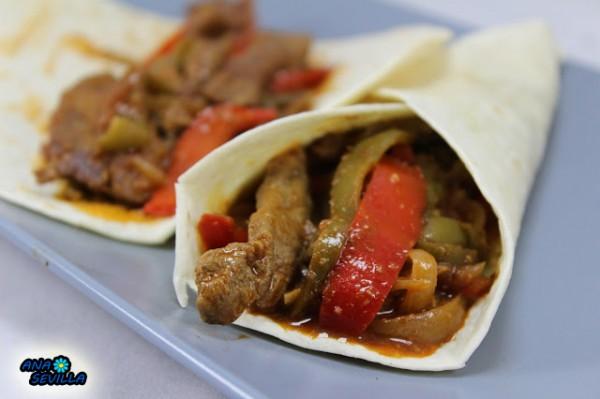 Tacos de ternera a la jardinera con Thermomix. Ana Sevilla