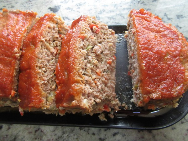 Pastel de carne americano con tomate Thermomix.