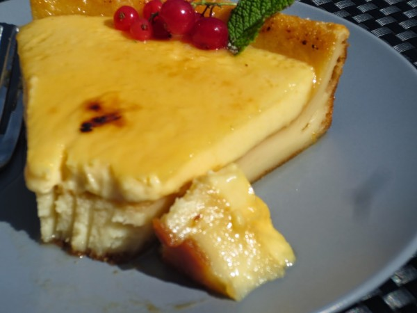 Quesada con crema catalana Thermomix