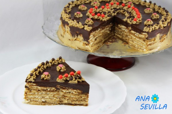 Tarta de galletas y moka con Thermomix