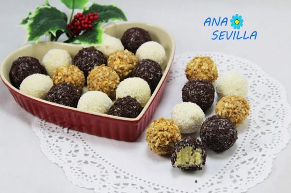 Trufas de chocolate blanco Thermomix Ana Sevilla