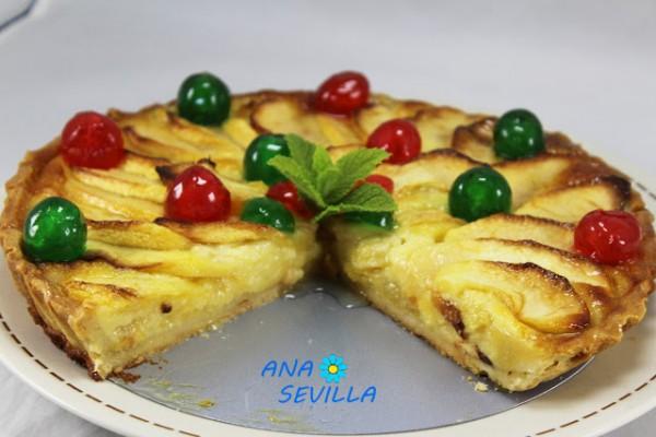 Tarta de queso y manzana Ana Sevilla cocina tradicional