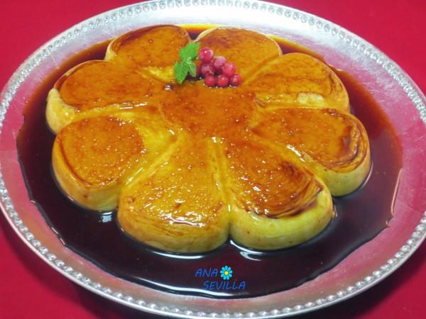 Flan de arroz con leche sin horno Ana Sevilla cocina tradicional.