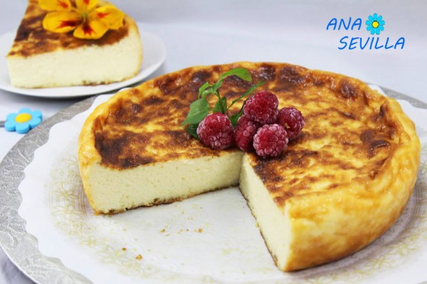 Tarta de queso La Viña, con Thermomix, tradicional y Olla GM. Ana Sevilla