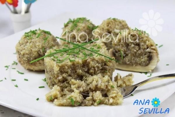 Quinoa con champiñones Thermomix Ana Sevilla