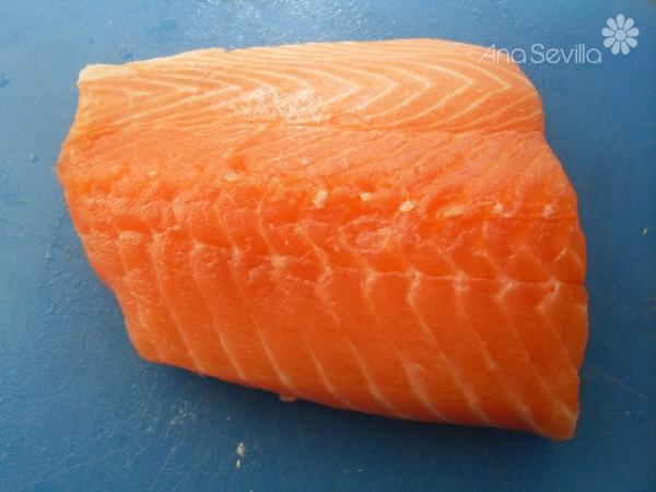 Quiche de gambas y salmón