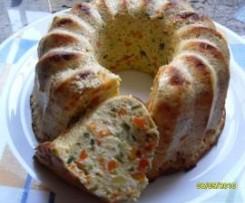 Pastel bicolor de verduras thermomix