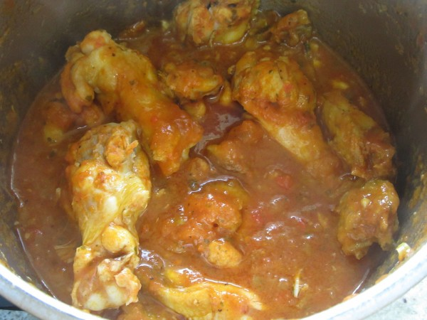 Alitas de pollo con tomate Thermomix