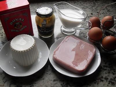 Pastel de queso de Burgos y jamón olla GM