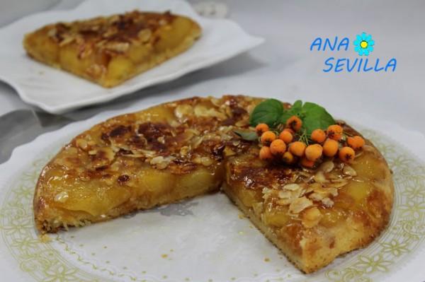 Tarta Tatín de manzana y almendra. Con Olla GM.  Ana Sevilla
