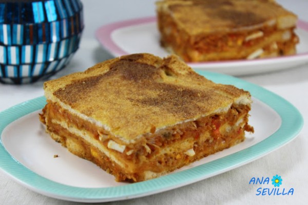 Sandwich de atún y tomate Ana Sevilla cocina tradicional