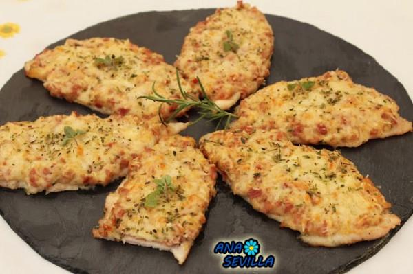 Pechu-pizzas Pechugas de pizza Ana Sevilla cocina tradicional