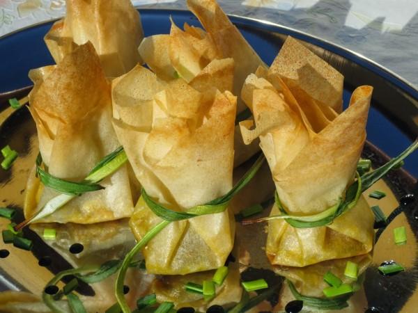 Saquitos de foie y paté de queso Ana Sevilla