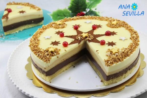 Tarta de turrón dos chocolates Thermomix Ana Sevilla