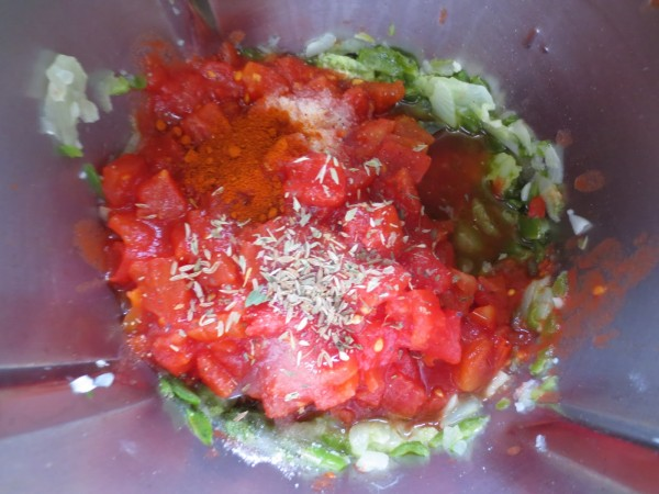 Salsa mejicana para dipear Thermomix