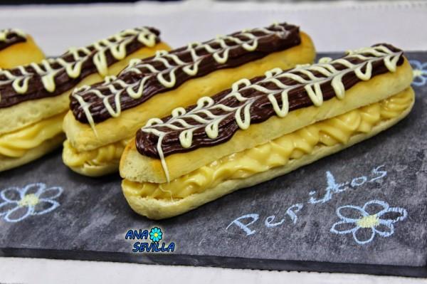 Pepitos de crema y chocolate Ana Sevilla cocina tradicional