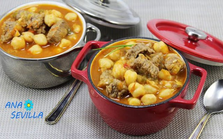 Garbanzos con ternera olla GM