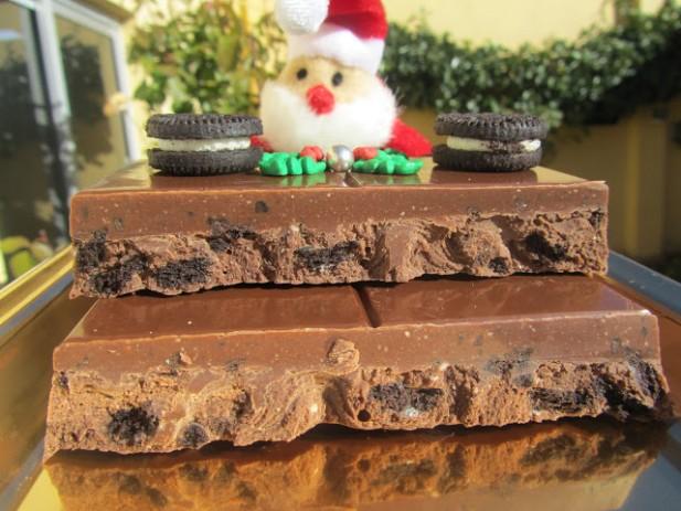 Turrón de chocolate y oreos