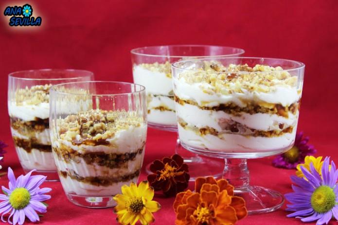 Triflé de nata y nueces