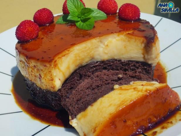 Bizcoflán de vainilla o chocolate