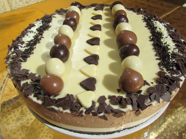 Cheescake de petit-suisses de chocolate Thermomix