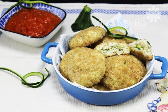 Nuggets de calabacín y pollo