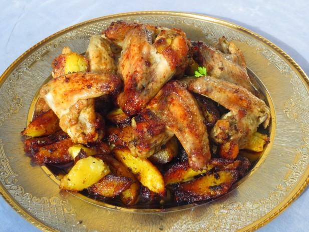 Alitas de pollo asadas