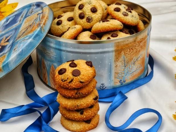 Mini-cookies de coco y chocolate