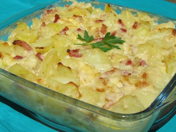 Patatas gratinadas (Tartiflette)