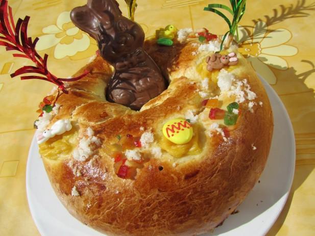Rosca de Pascua rellena