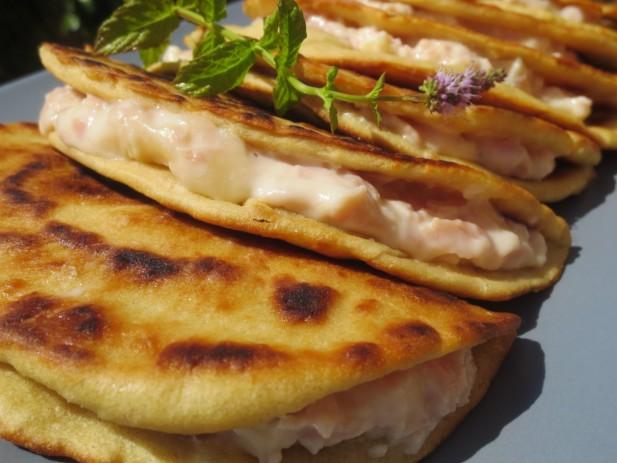 Piadinas de jamón y queso