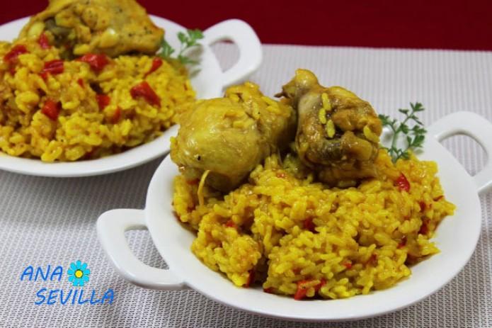 Arroz con pollo al curry olla GM