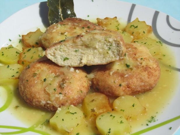 Filetes rusos de pollo en salsa