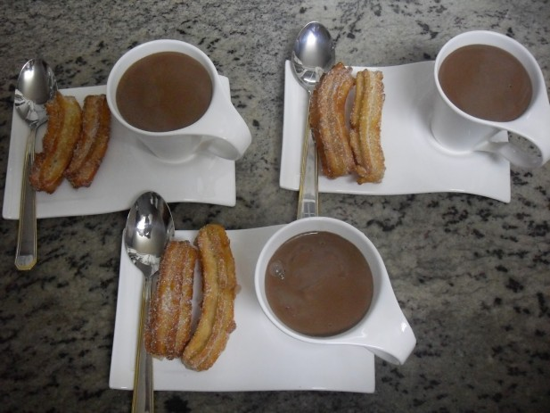 Churros rellenos Thermomix