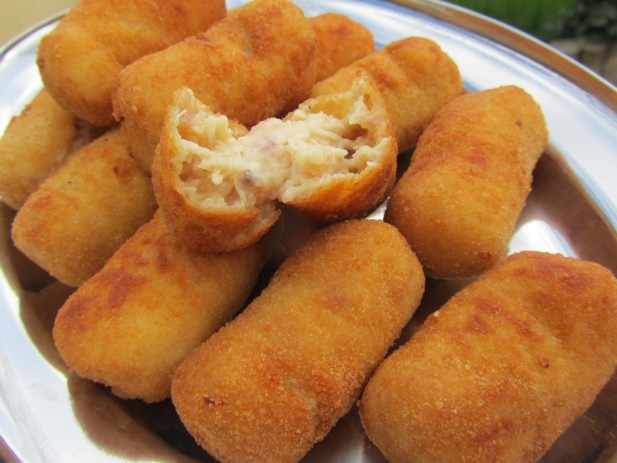 Croquetas de pollo asado y jamón
