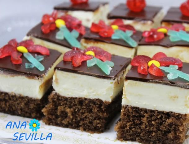 Borrachines de mascarpone y chocolate