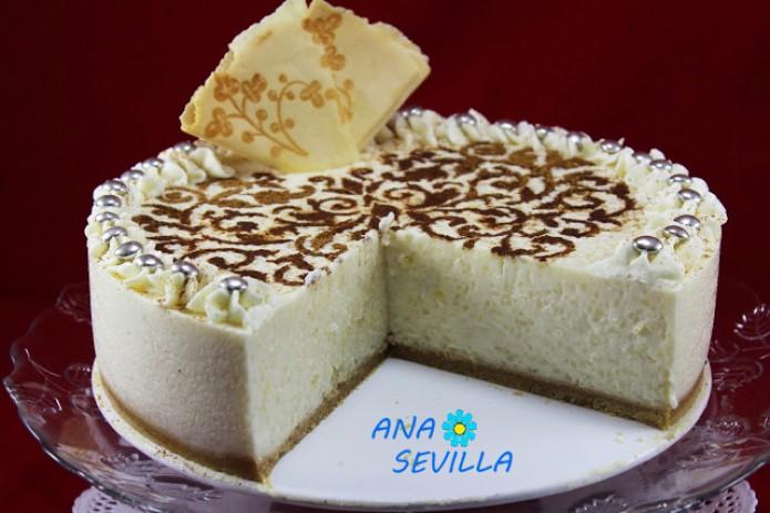 Tarta de arroz con leche